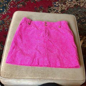 Lilly Pulitzer pink zig zag skirt size 8 corduroy